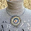 Collier artisanal / bijoux textiles