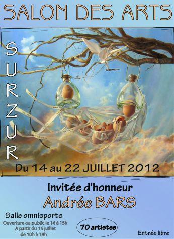 11ème Salon des Arts de SURZUR ( Morbihan ) du 14 au 22 juillet 2012