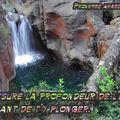 Proverbe arabe profondeur eau