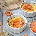 Clafoutis {abricot, chèvre, miel & thym}