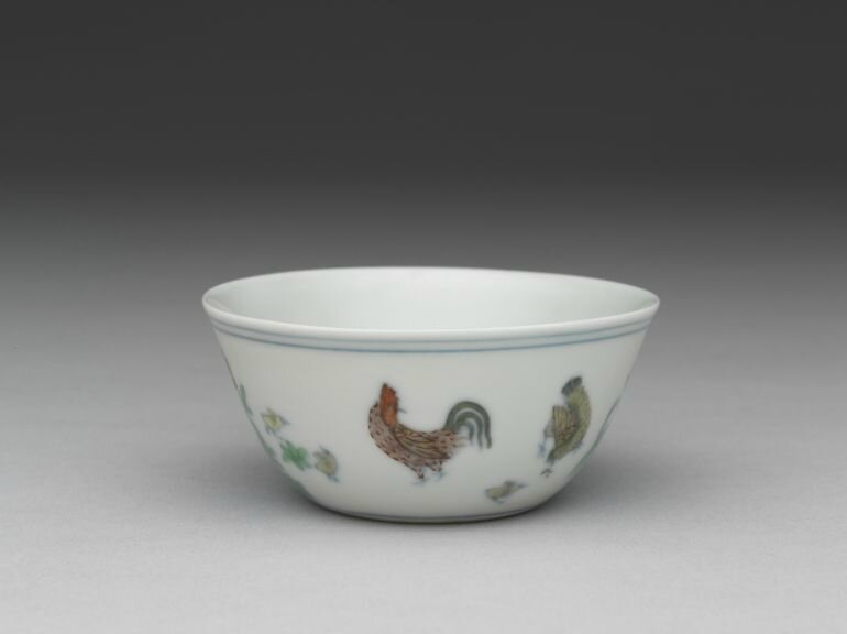 Cup with chicken design, Ming dynasty, reign of Emperor Chenghua