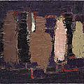 Nicolas de staël, bouteilles en brun, ocre et rose (bouteilles: nature morte), 1952