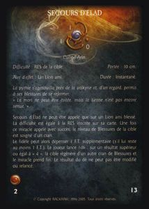 Pack de cartes - Les Baronnies du Lion - secours_d_elad (miracle)