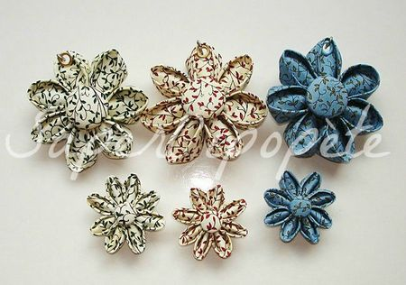 fleurs kanzashi tissus