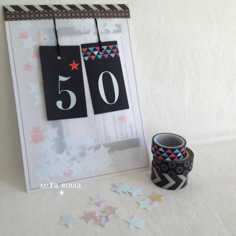 Happy 50 carte kdo