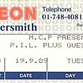 Public image ltd. - mardi 19 septembre 1989 - hammersmith odeon (london)