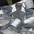 Pots en zinc