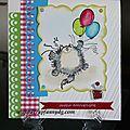 Carte anniversaire garçon n°2 / tarjeta de cumpleaños niño