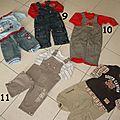Vêtements garçon 1 an