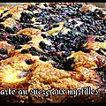 Sucre et myrtilles (tarte)