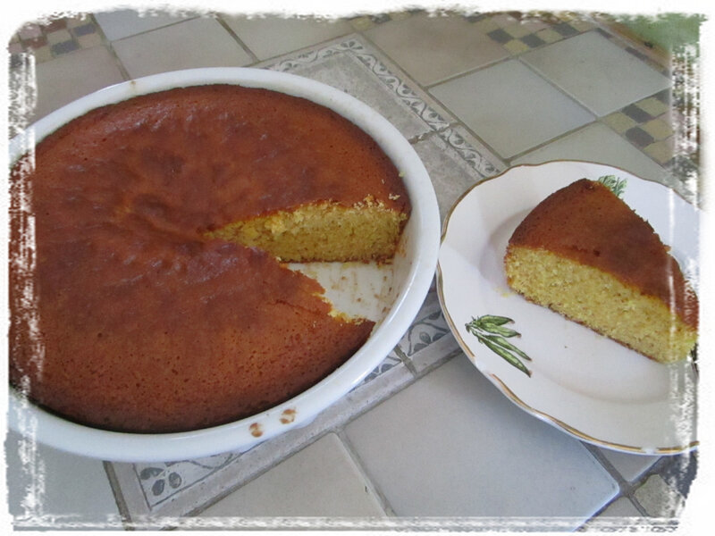 Gâteau farine maïs
