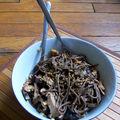 Nouilles soba aux shiitakés