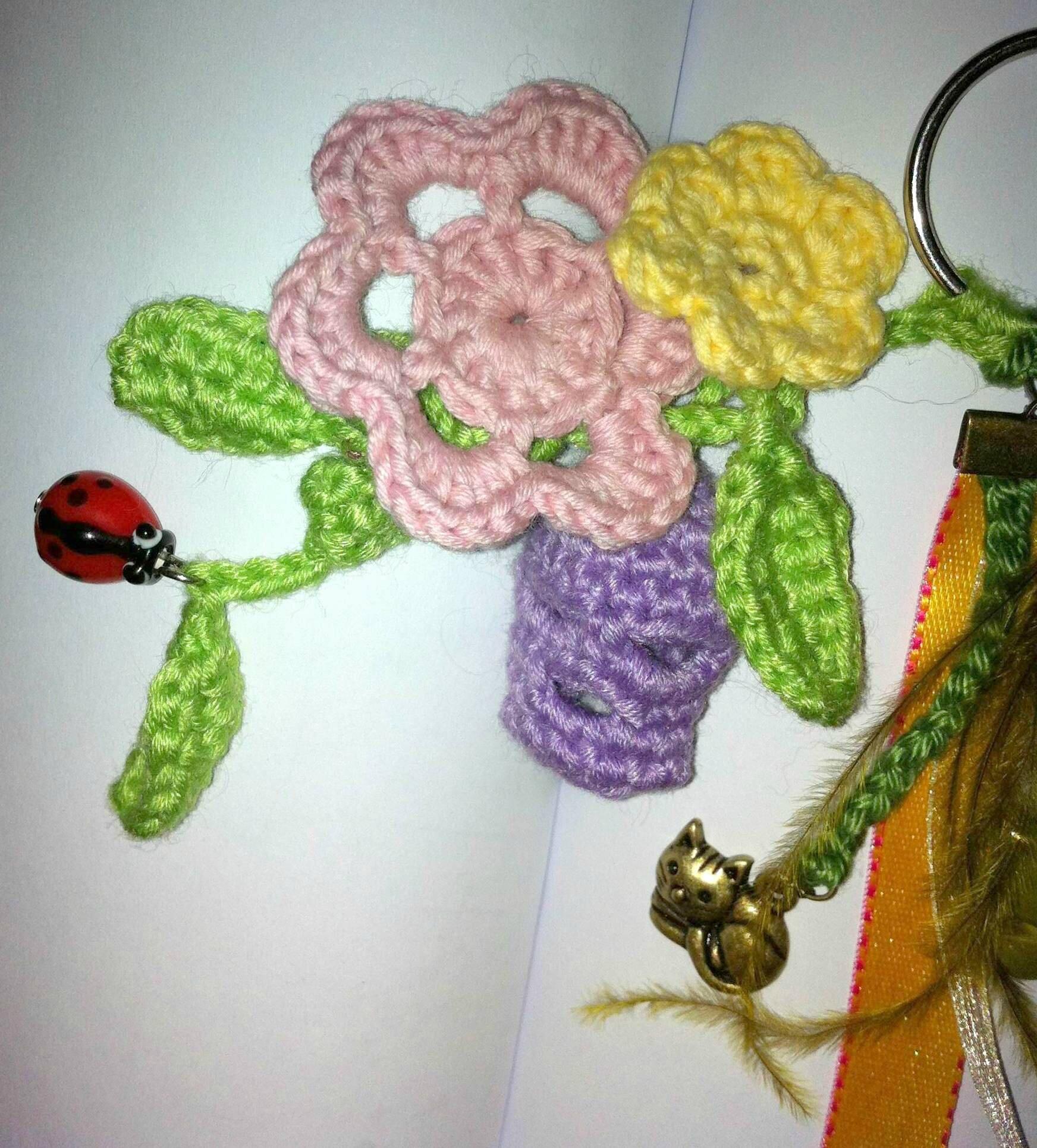 porte clés skull girly crâne violet clair