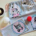 ♥ ♥ ♥ cadeau home-made : pochon et trousse pour elle (pour apprendre le crochet) ♥ ♥ ♥