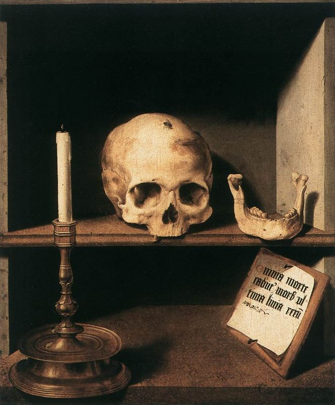 Barthel Bruyn the Elder, Vanitas Still-Life, Oil on wood, 61 x 51 cm.. Rijksmuseum Kröller-Müller, Otterlo.