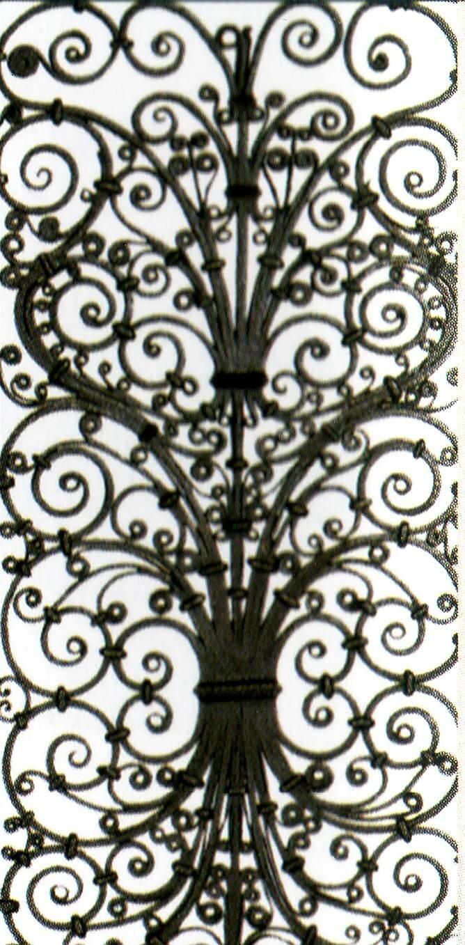 grille de l'abbaye d'ourscamp 1200