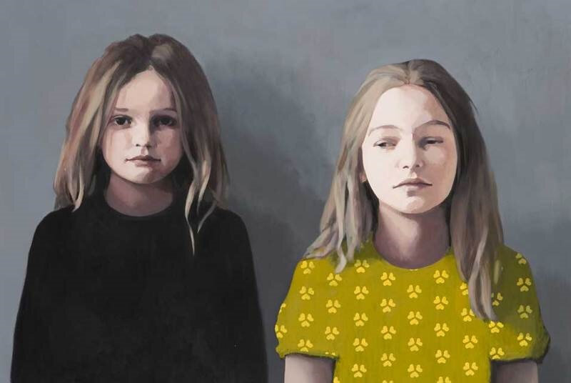 Claerwen-James-Sisters-in-grey-and-yellow-2009