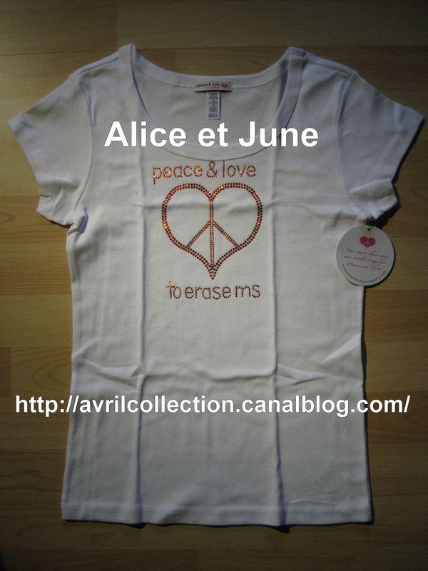 Tshirt Peace & love to erase ms-Orange You Happy To Erase MS