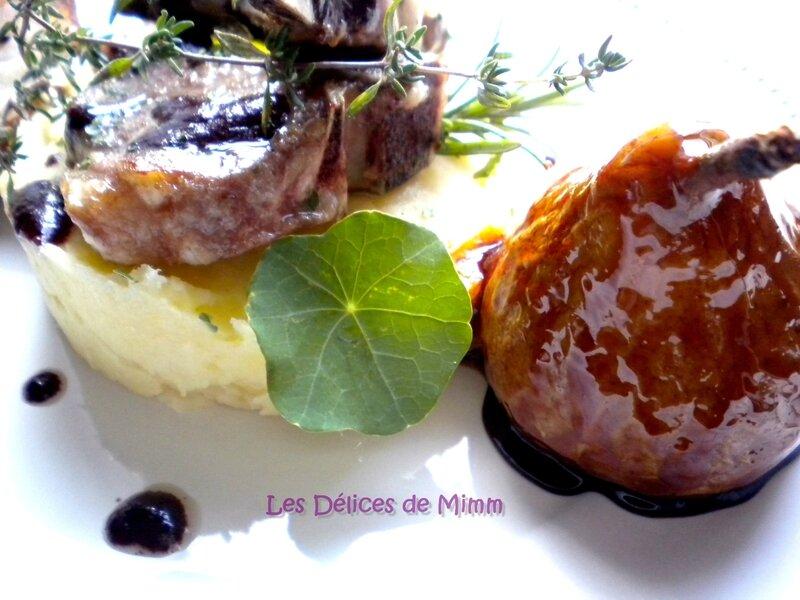 Côtes d'agneau au Sorcières, purée de panais et poires caramélisées au romarin 3