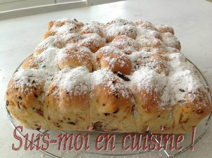 Brioche Buchty aux Pépites de Chocolat & Abricots Secs