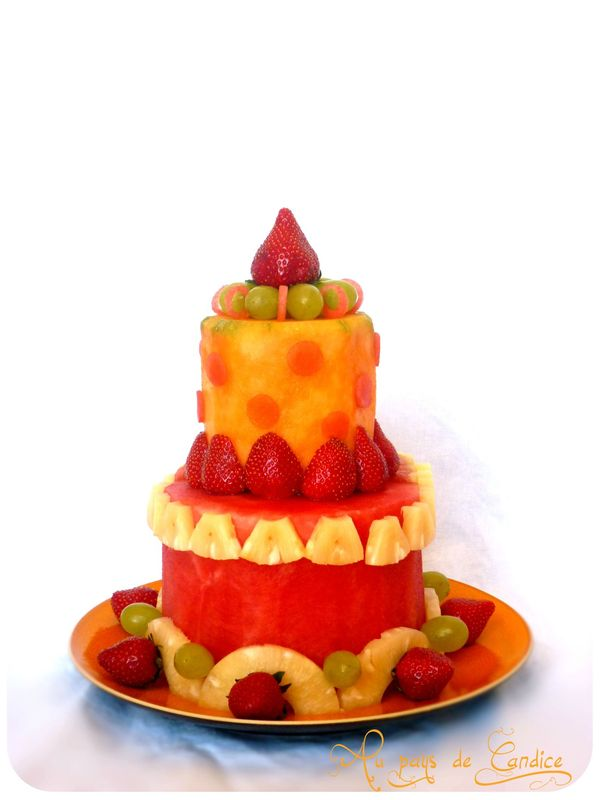 Gâteau de fruits
