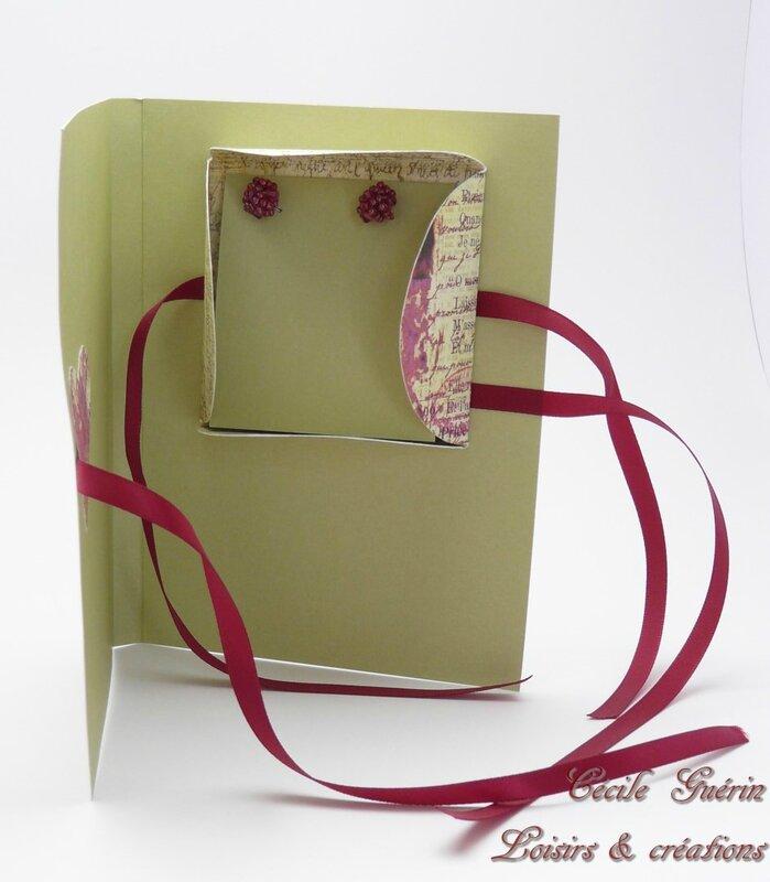 Carte surprise verte coeur rose 1 - blog