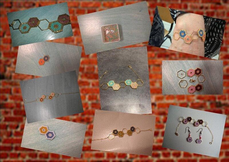 bracelets hexagones