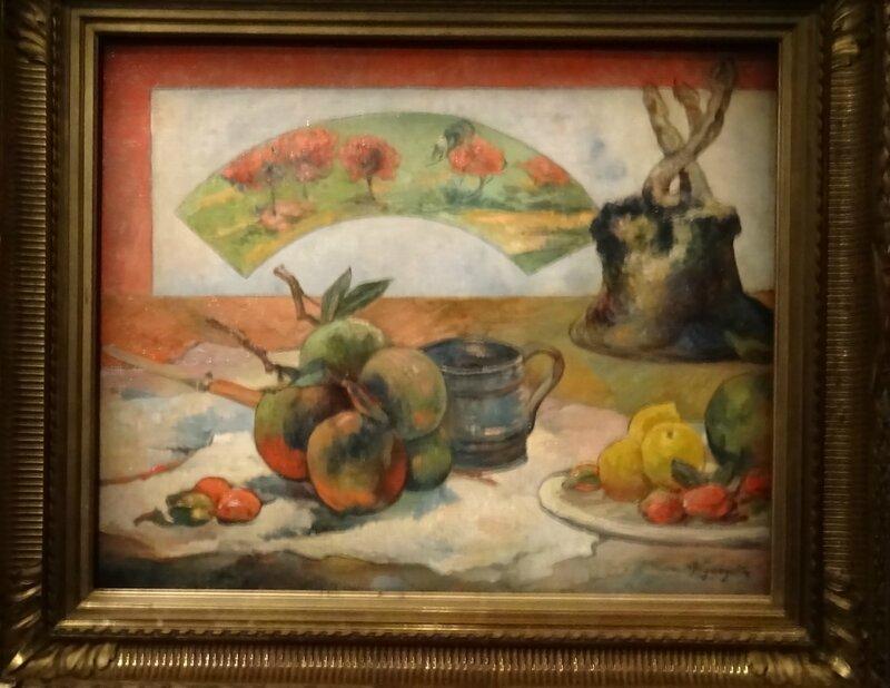 Gauguin Nature morte à l'éventail 1889