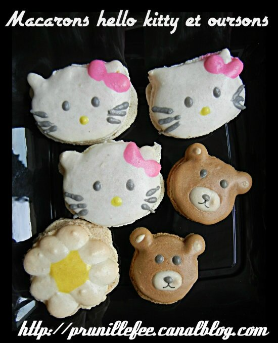 macarons hello kitty et oursons prunillefee