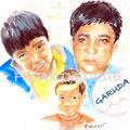 carte n° 2 - 3 enfants équipe foot Garuda
