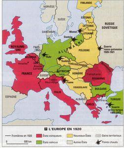 l'europe apres le traite de versailles