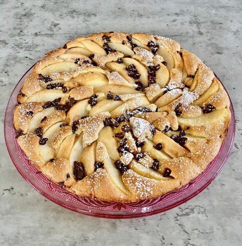 tarte aux poires et pepites de chocolat