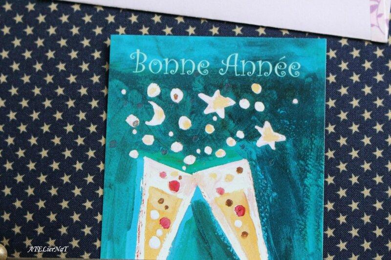 Porte-clés 35-50 bleu étoiles beiges3