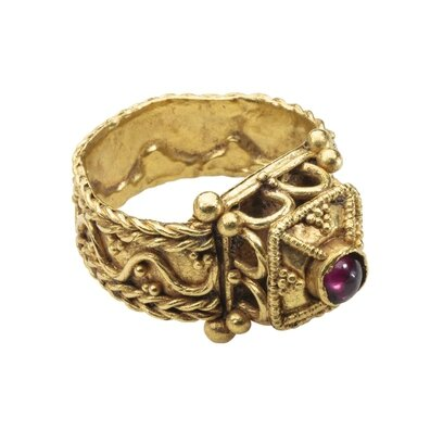Merovingian Architectural Ring, France, Gaul, mid-6th century
