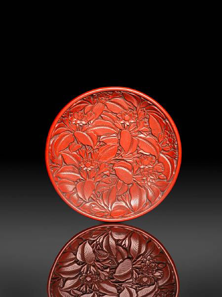 Important Chinese Cinnabar Lacquer From Japanese