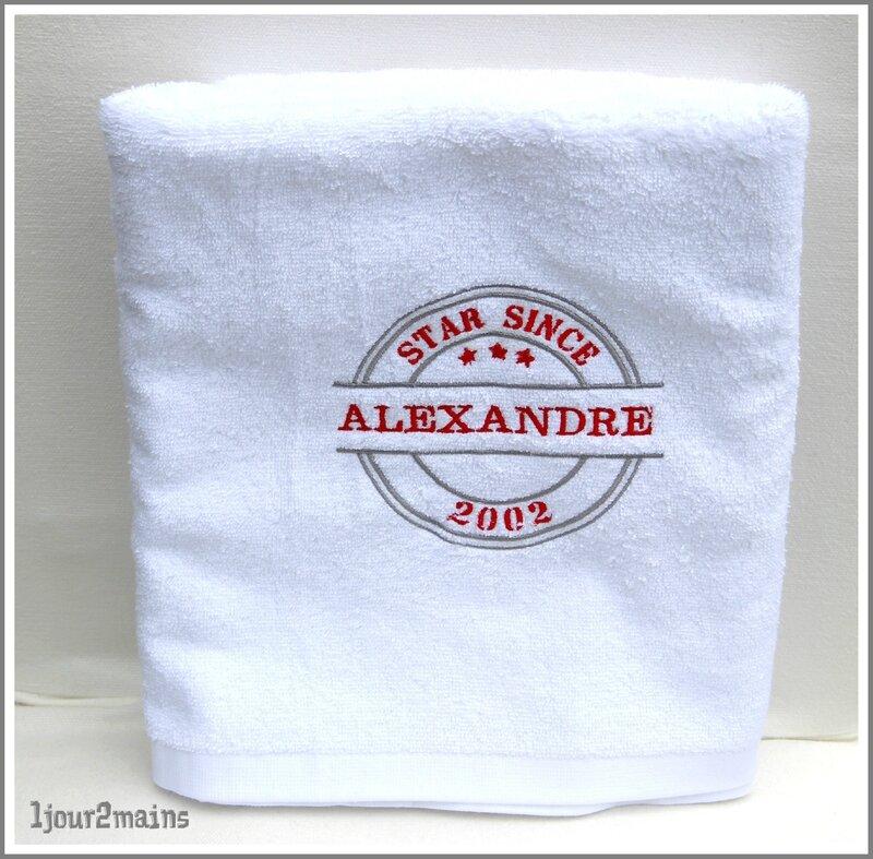 serviette bain Alex