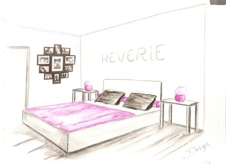 croquis chambre ambiance design decor 39 in id es conseils. Black Bedroom Furniture Sets. Home Design Ideas