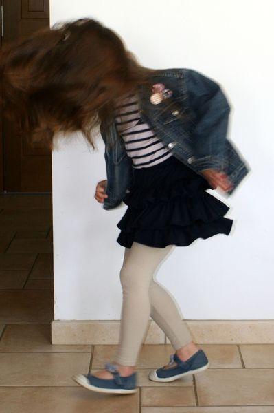Jupe Volants Cheveux au vent