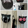 Collier chat (fimo)
