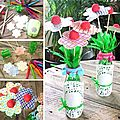 ¨°o.✿ bouquet fleurs bonbons / diy candy flower bouquet ✿.o°¨