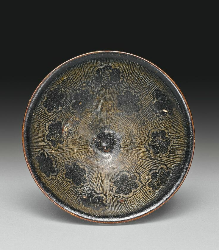 A rare inscribed 'Jizhou' bowl, Song dynasty