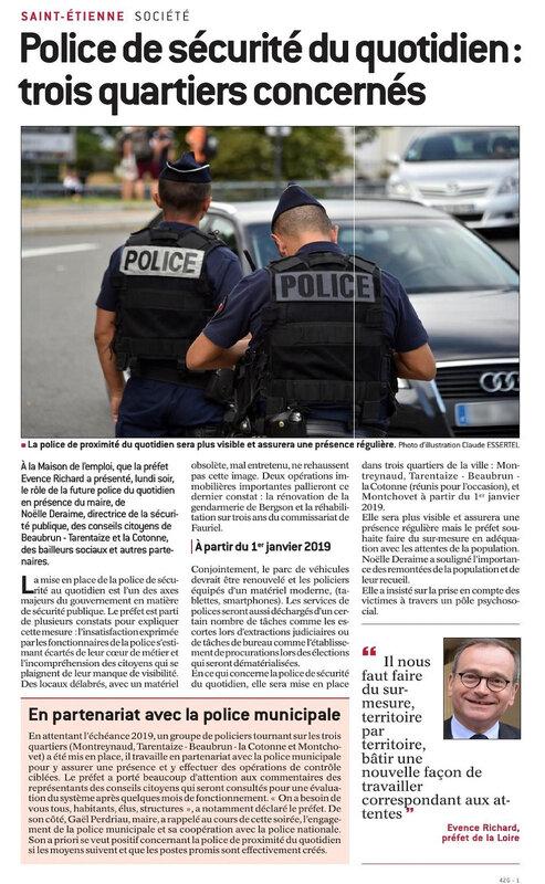 saint etienne stéphanois police proximité quartier perdus de la république