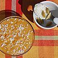 Petite crème bollywood à la carotte, coco, cardamome et cannelle