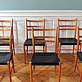 Suite de chaises yngve eckström, 1956, edition gemla sweden