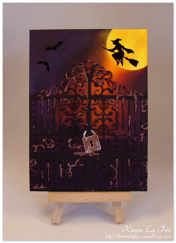 Carte Halloween Portail Ciselé 1