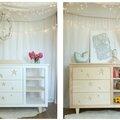 Dans la chambre de bébé il y aura aussi la commode assorti au lit et au berceau ...