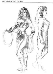 kingdom come wonder woman sketch