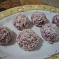 Biscuit boule napper de coco