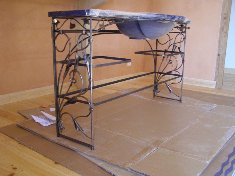 console demie lune ferronnerie d 39 art rocle. Black Bedroom Furniture Sets. Home Design Ideas