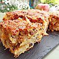 Brownie aux pommes germaine de brasparts et au caramel pour le pays des enclos